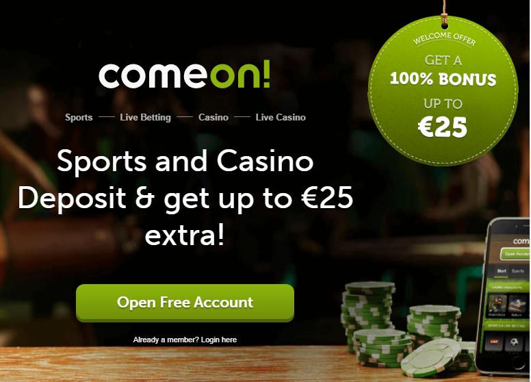 Comeon Casino tarjoaa mahtavan keskimääräinen palautusprosentin, joka on 97,23%.