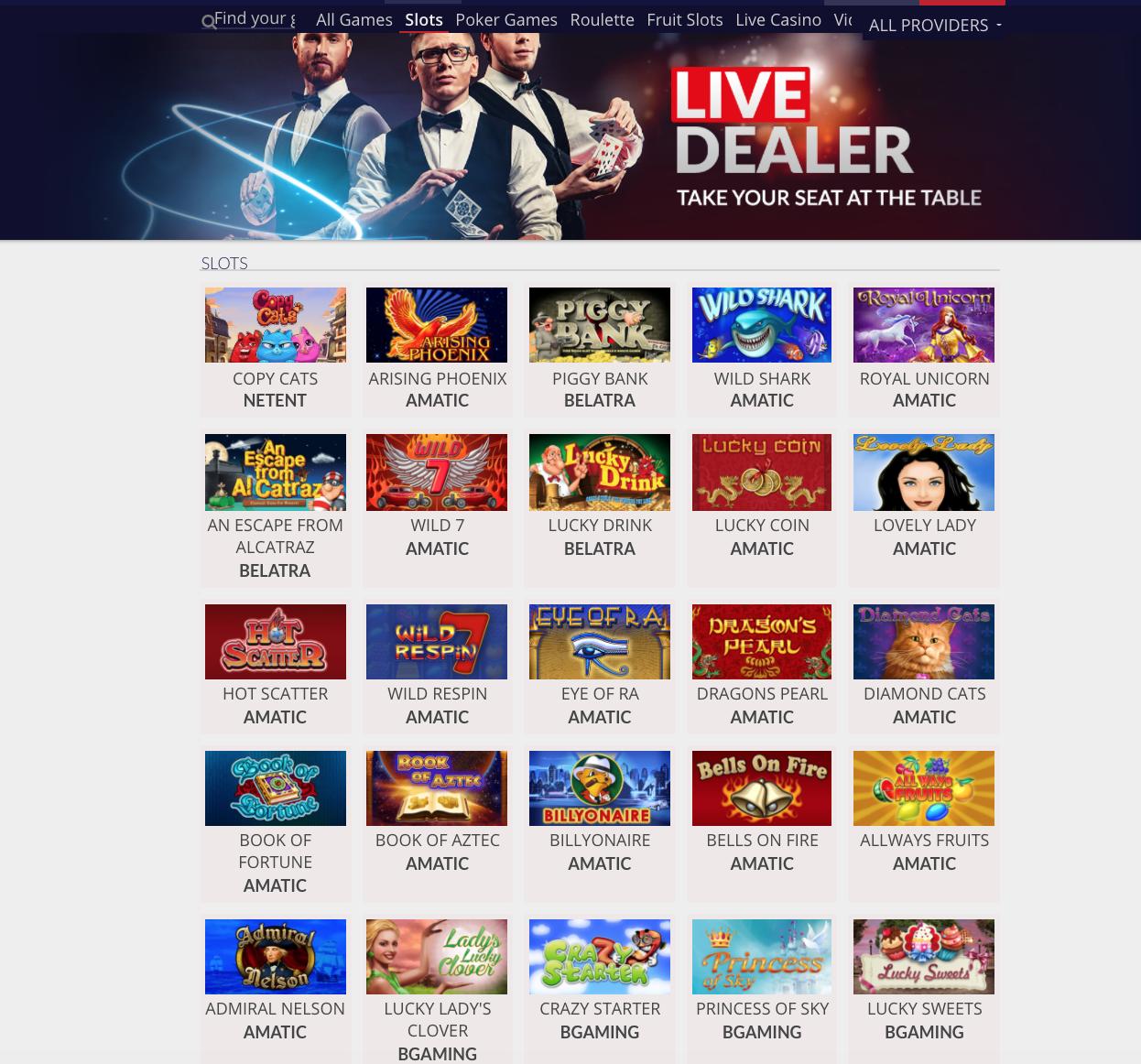 JooCasino tarjoaa valikoiman eri pelejä
