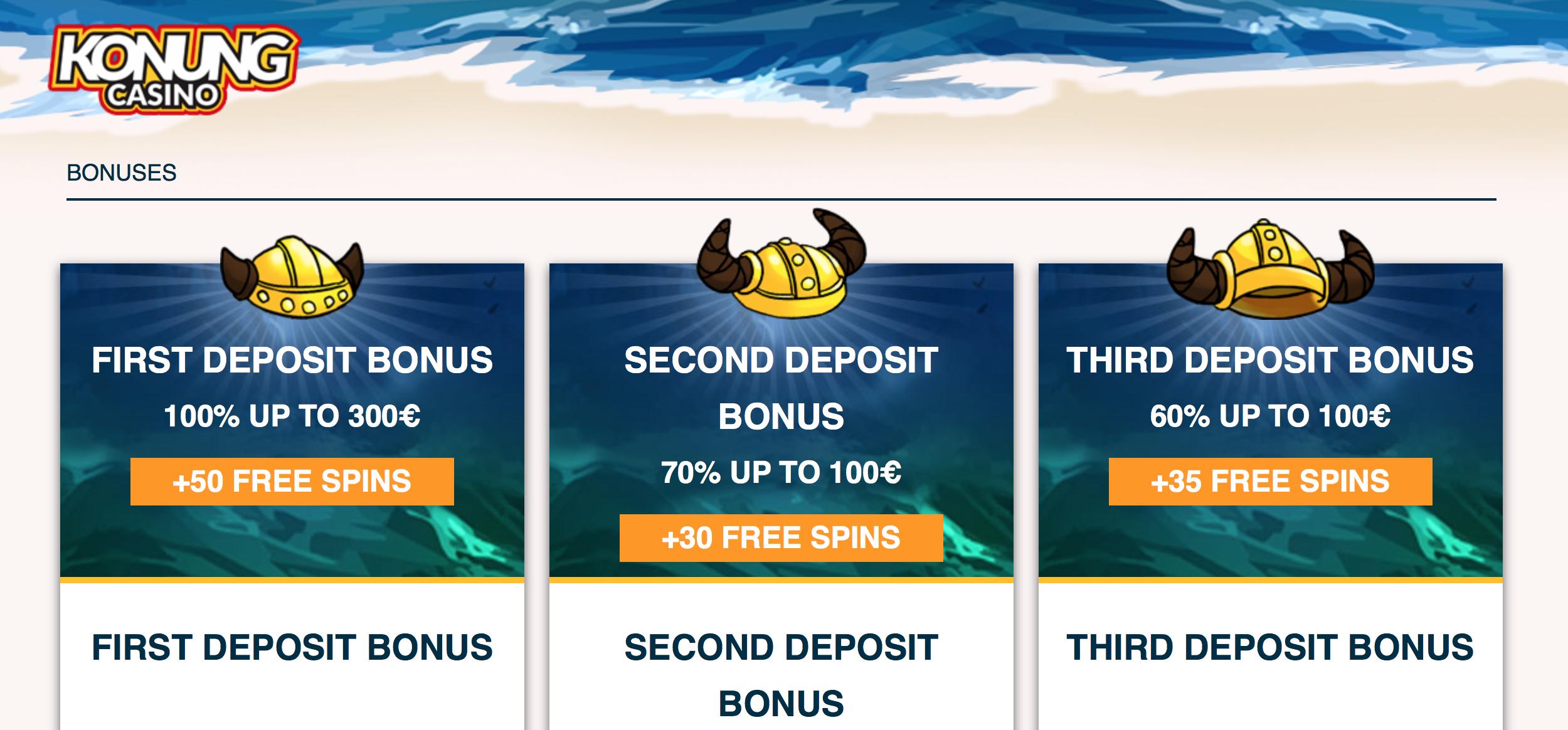 Konung Casino ja sen eri tarjoukset pelaajille