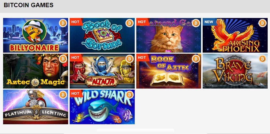 Playamo Casino sisältää suuren valikoiman pelejä, joista muutamia voi pelata myös bitcoineilla