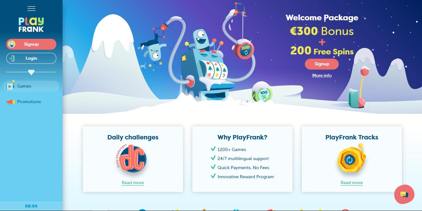 Playfrank Casino kampanjasivuilta löytyy tietoa aktiivisista kampanjoista ja eduista, sekä viimeisimmät kasino uutiset