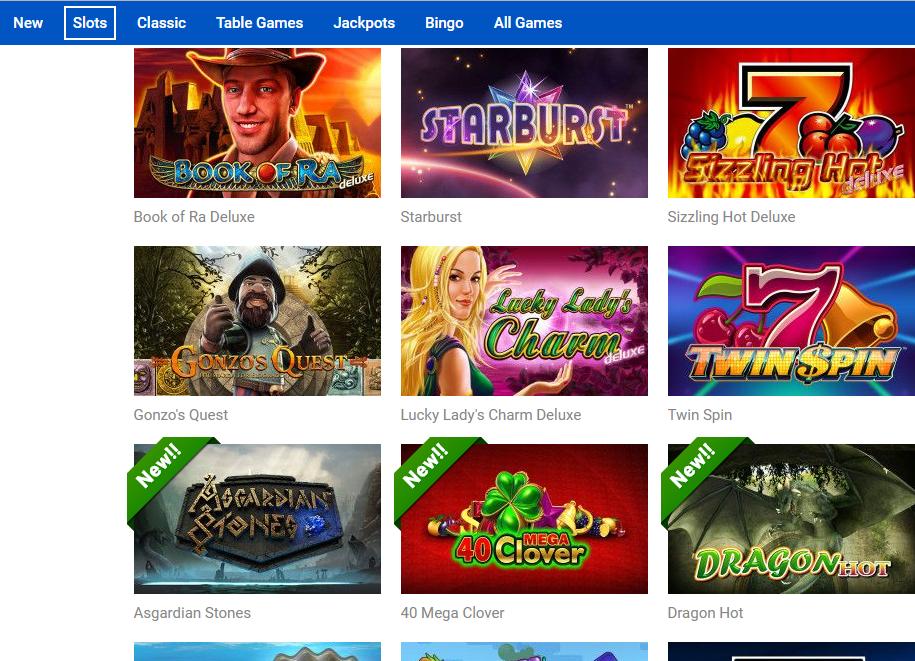 Quasar Casino tarjoaa laadukkaan pelivalikoiman
