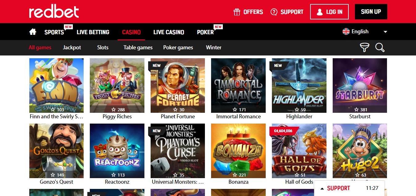Redbet Casino on pelaajalle erinomainen valinta