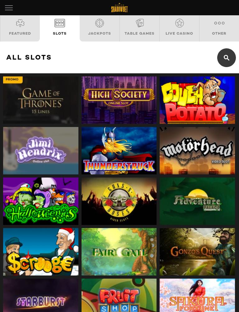 Shadow Bet Casino - korkeealaatuiset pelit jokaisen pelaajan makuun