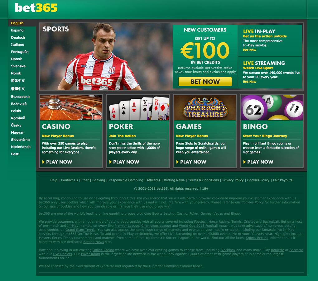 Bet365 Casino tarjoaa uusille jäsenille talletusbonuksen.
