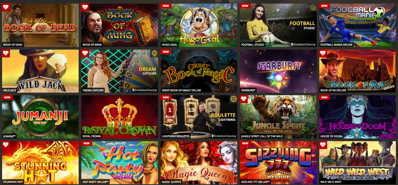 Lvbet Casino tarjoaa yli tuhat peliä