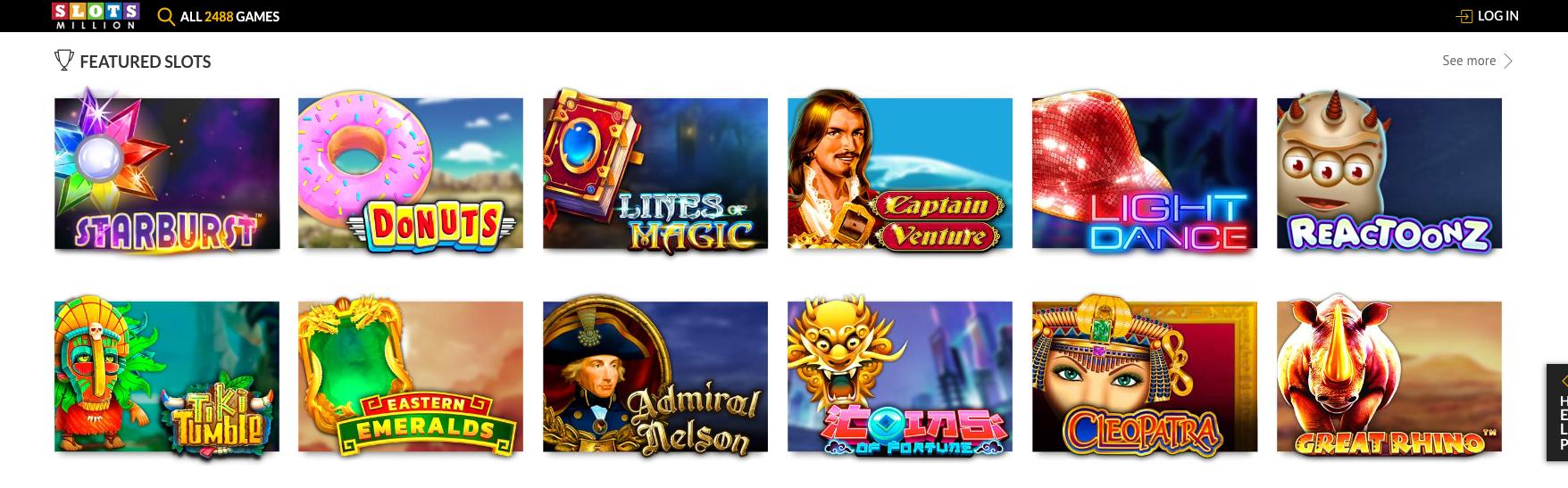 Slotsmillion Casino bonus tarjoaa