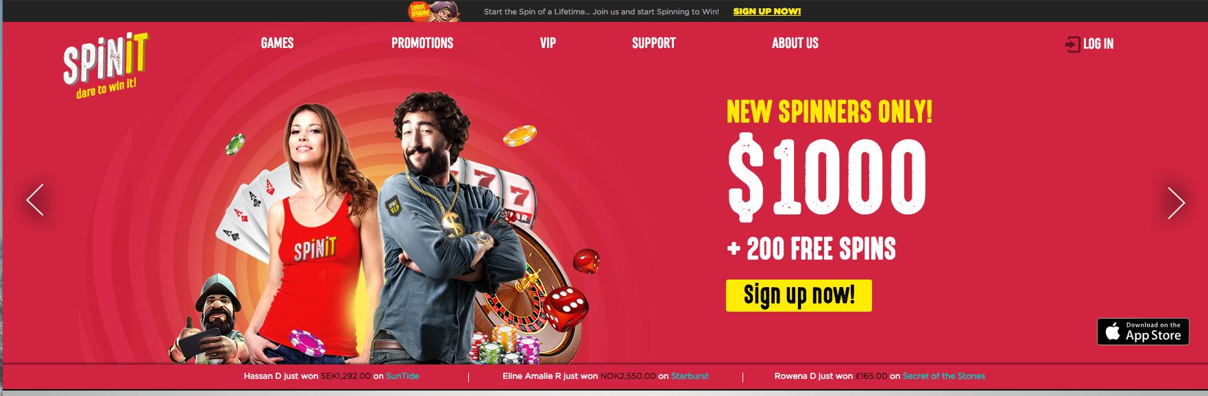 Spinit Casino tarjoaa kattavan pelivalikoiman, josta löytää kyllä suosikkinsa.