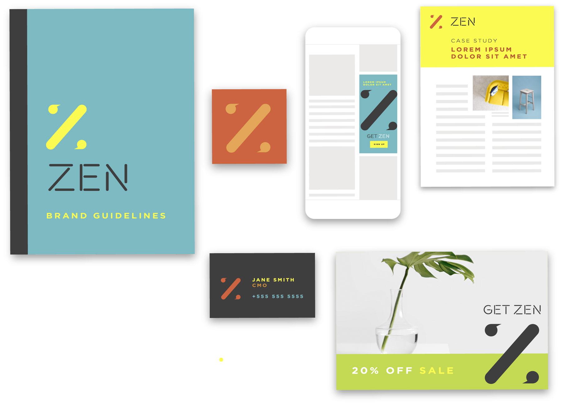 Zen example brand guidelines