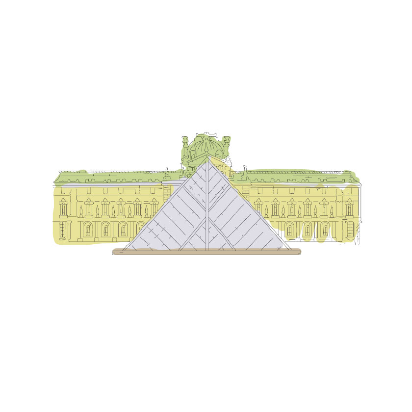 Sketch of the Lourve in Paris