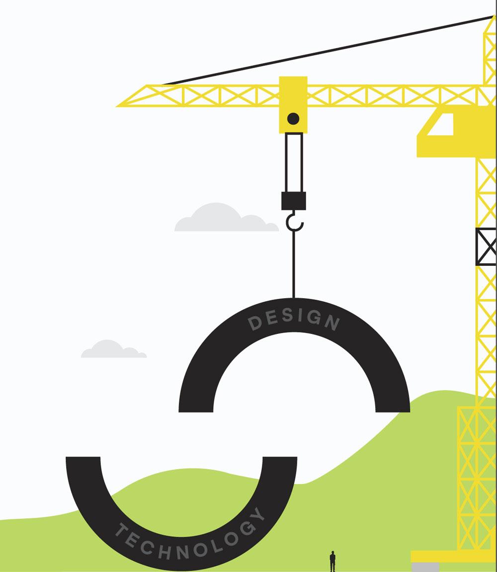 crane lifting SketchDeck logo