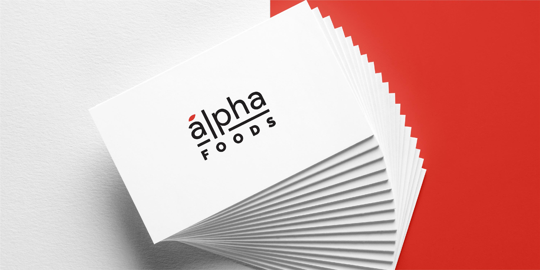 Alpha Foods Branding