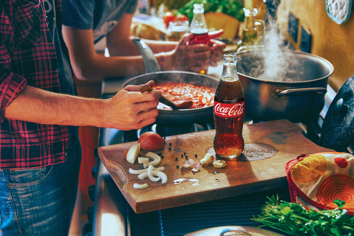 Make tonight taste special with Cook By Numbers from Coca Cola