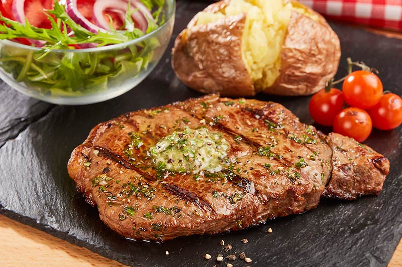 BBQ Herb Butter Steak