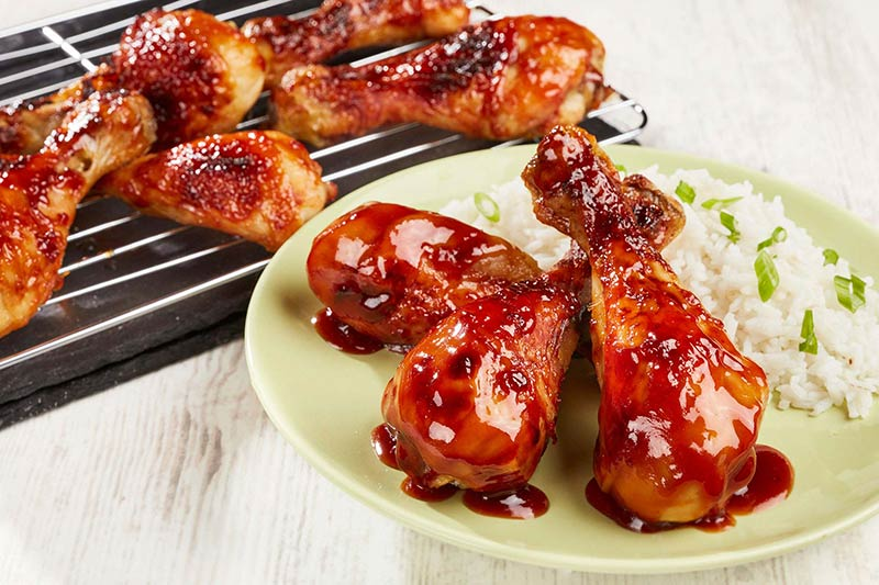 Sticky Sweet BBQ Chicken Drumsticks
