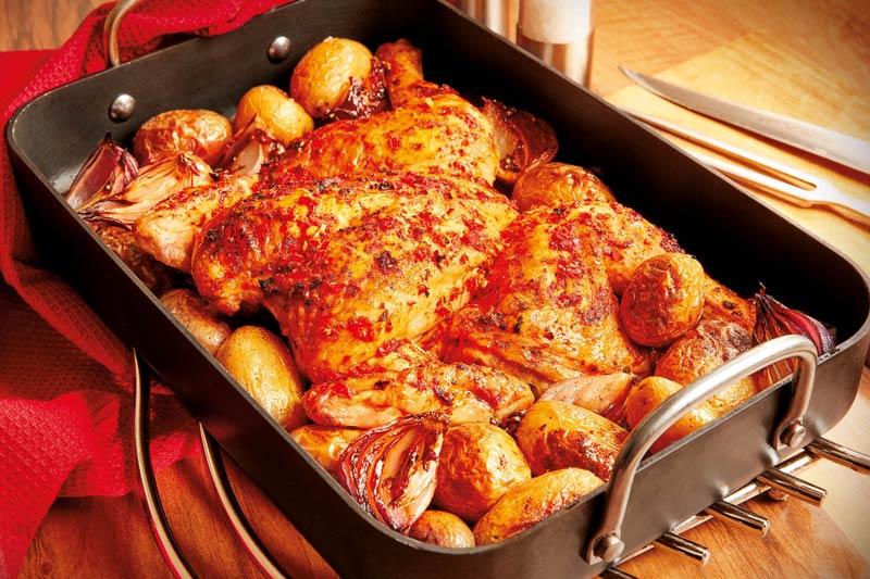Piri-Piri Style Spatchcock Chicken
