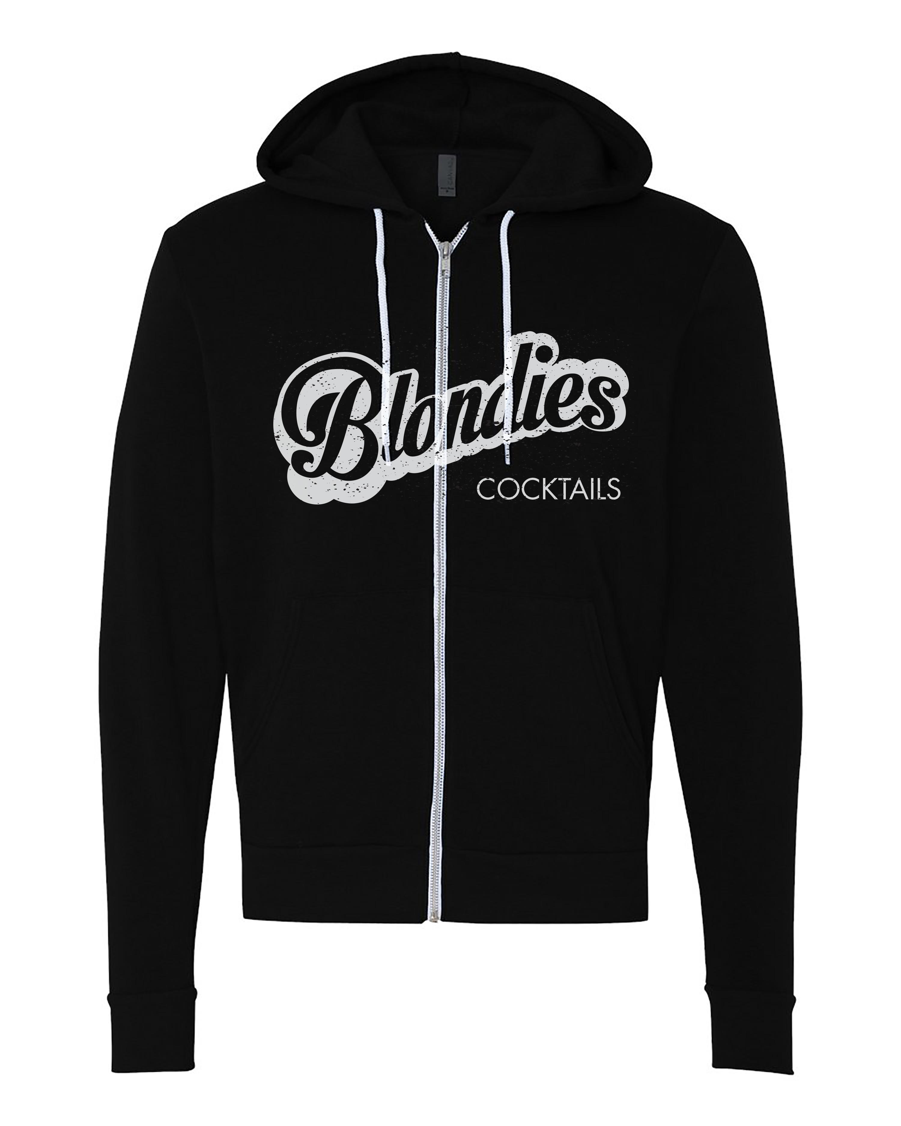 Ladies Full Zip Hooded Sweatshirt Black
