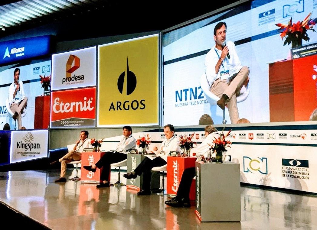 Juan Manuel González, Alejandro Linares, Germán Bula Escobar, Fernando Cepeda en Congreso Camacol Cartagena 2018