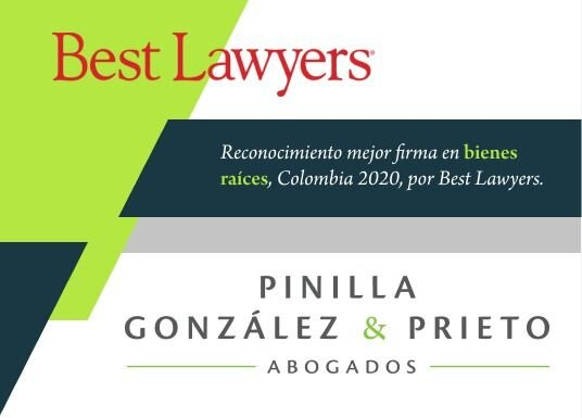 Mejor firma en bienes raíces en Colombia, Best Lawyers 2020