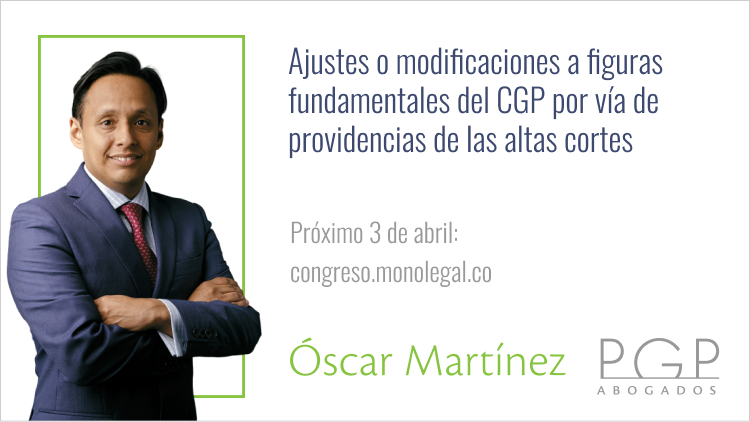 Óscar Martínez: Ajustes a figuras del CGP