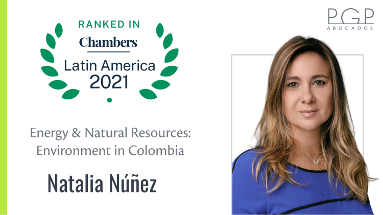 Natalia Núñez destacada en la publicación 2021 de Chambers & Partners en Energy & Natural Resources: Environment
