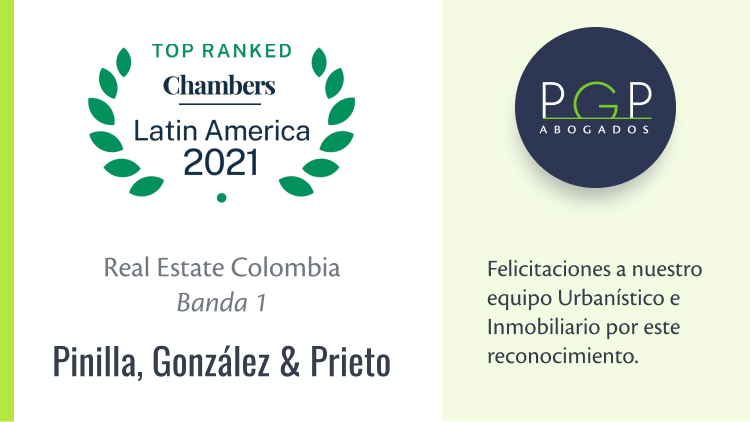 Equipo de Urbanístico e Inmobiliario destacado en Banda 1 en la publicación 2021 de Chambers & Partners en Real Estate