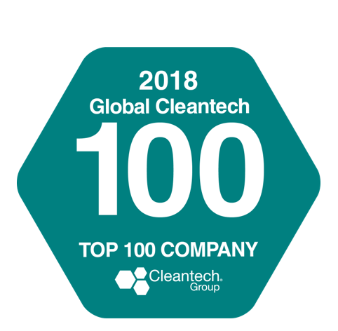 2018 Global CleanTech Top 100 Company Icon