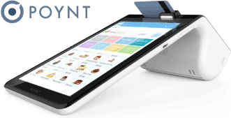 Image of Poynt POS smart terminal running My Rewards loyalty marketing program for Clover & Poynt POS