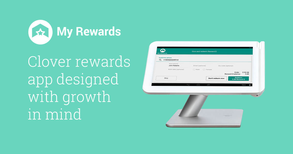 Clover POS rewards & text message marketing app | My Rewards