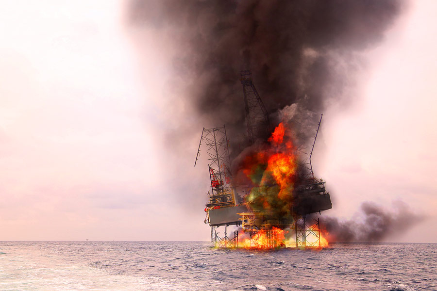 Oil Rig Explosions and Fires