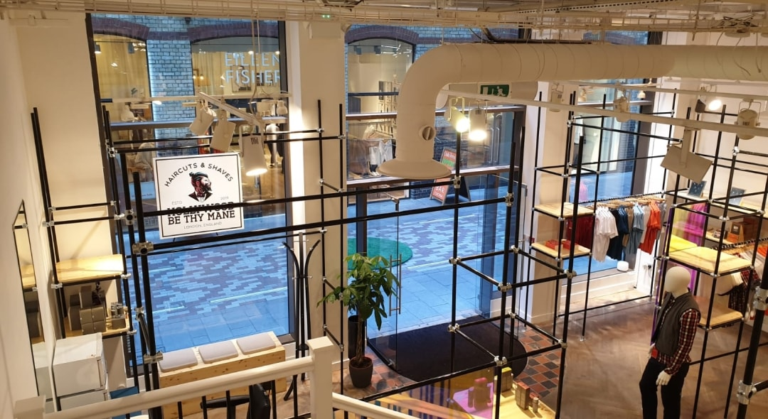 industrial looking interior of the charles vane store in london