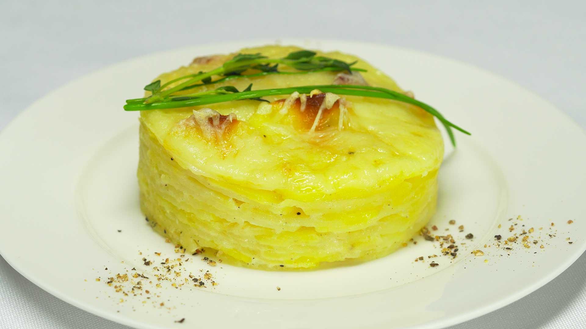 Гратен из картофеля