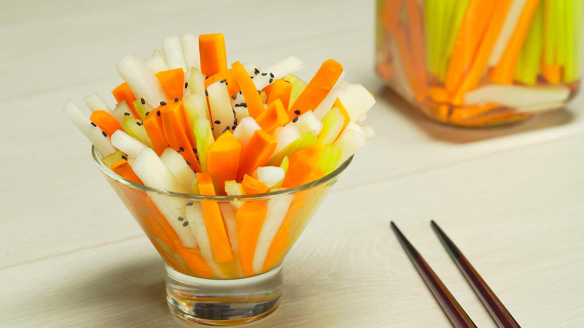 Пикантная овощная закуска. Японская кухня