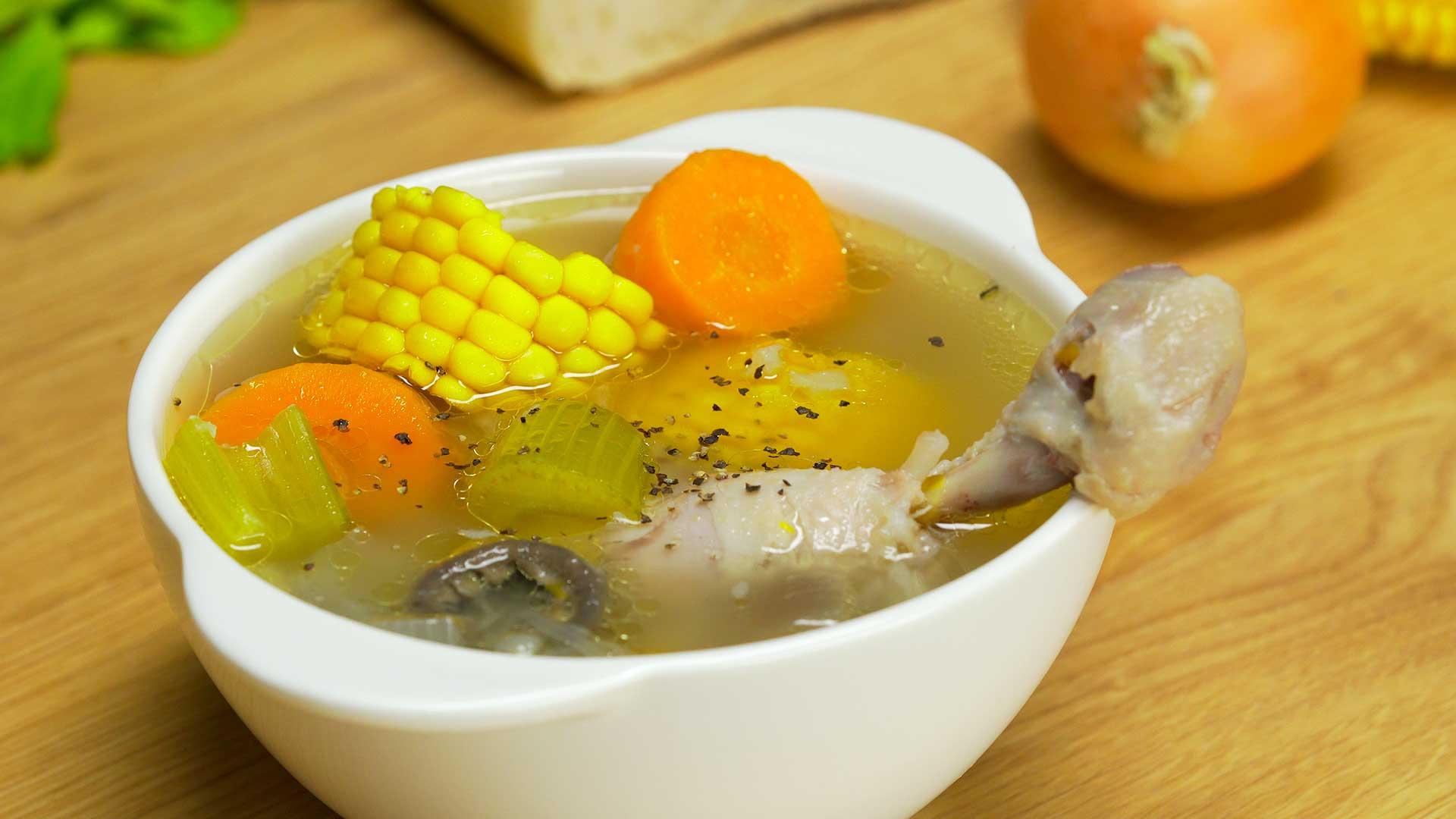Куриный суп по-бомбейски