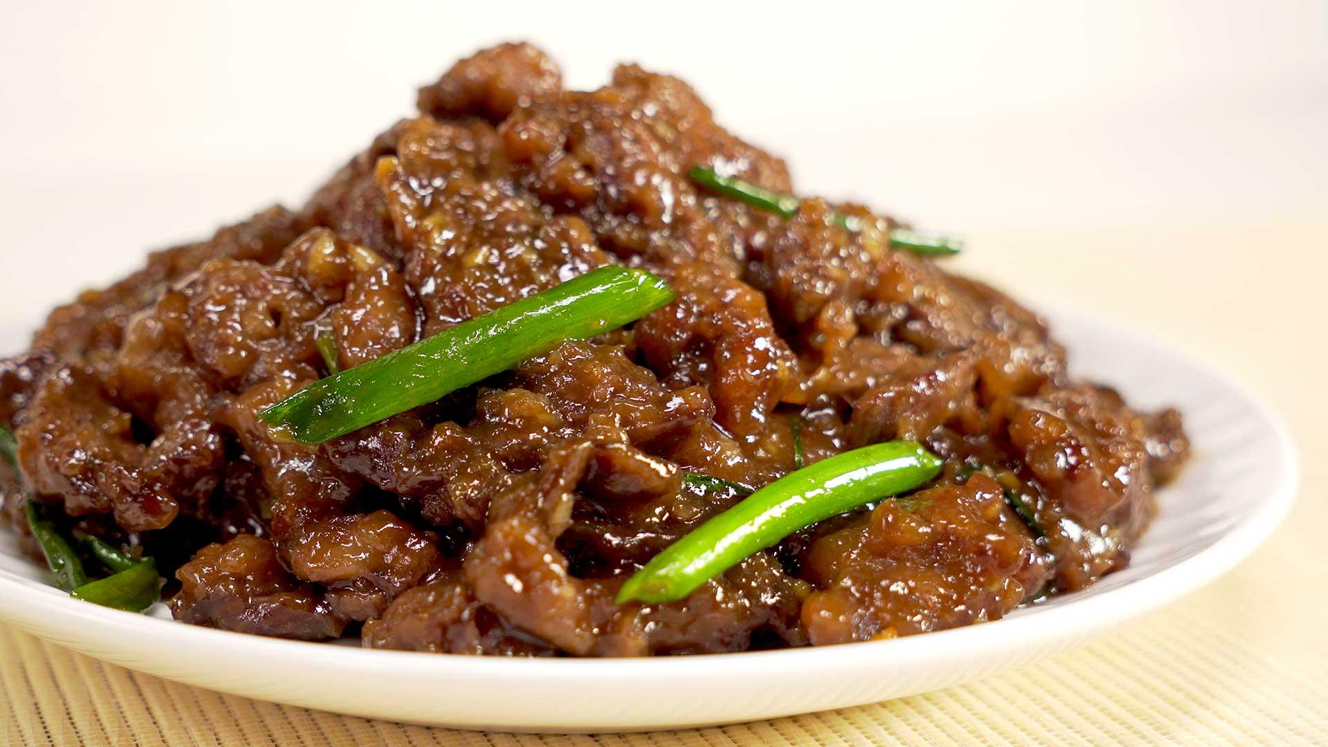 Монгольская говядина. Mongolian beef