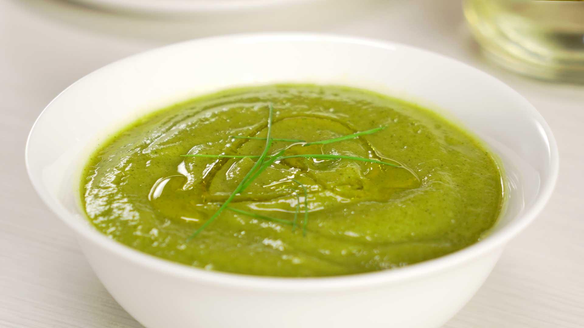 Суп-пюре из кабачков в пароварке