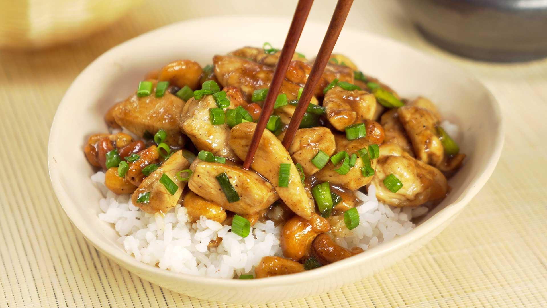 Курица с орешками кешью в азиатском стиле