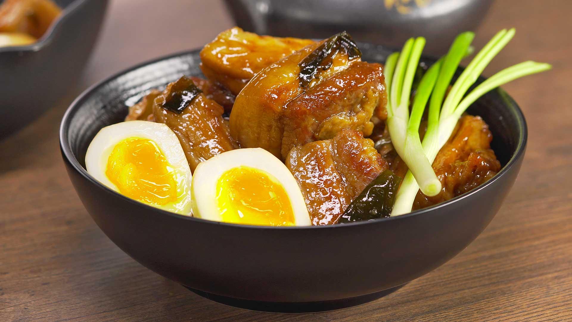 КАКУНИ / KAKUNI - тушеная свиная грудинка. Японская кухня