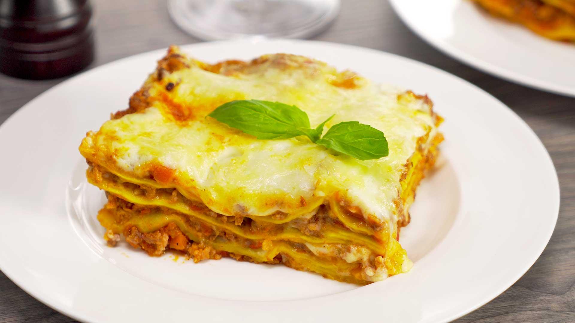 Мясная лазанья. Итальянская кухня