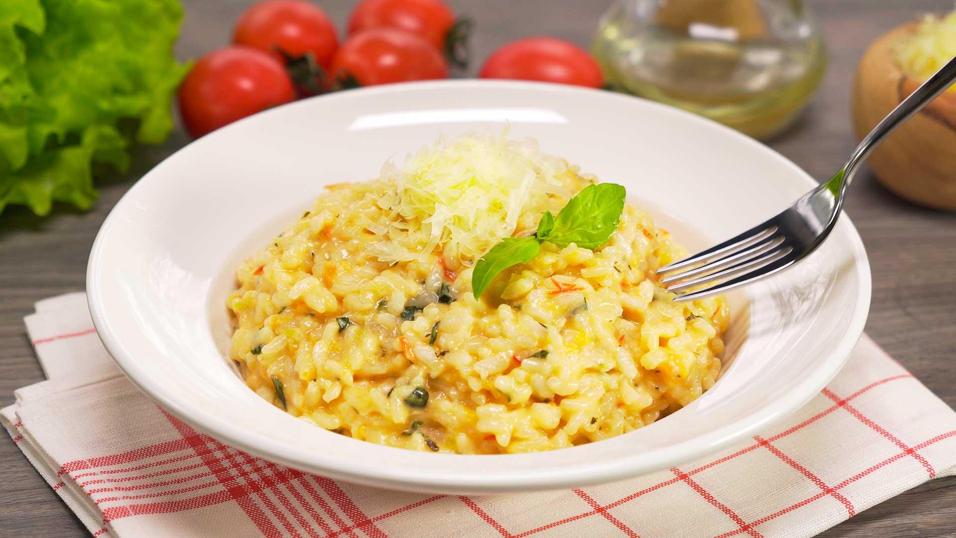 Ризотто с помидорами. Итальянская кухня
