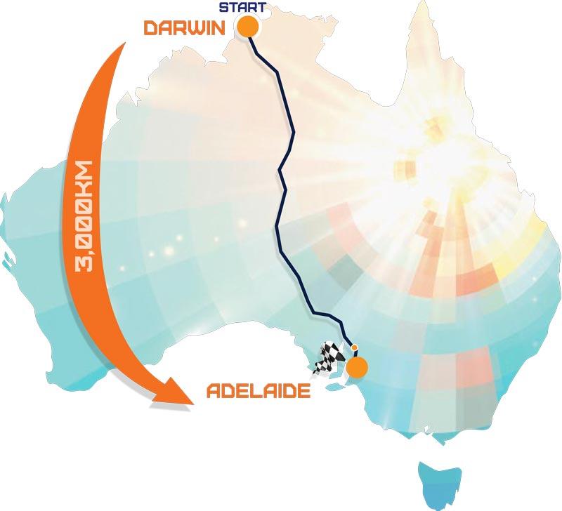 Australian route map