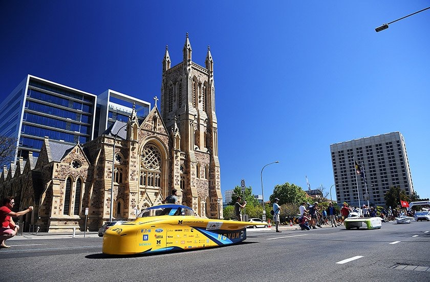 Adelaide parade of solar cars