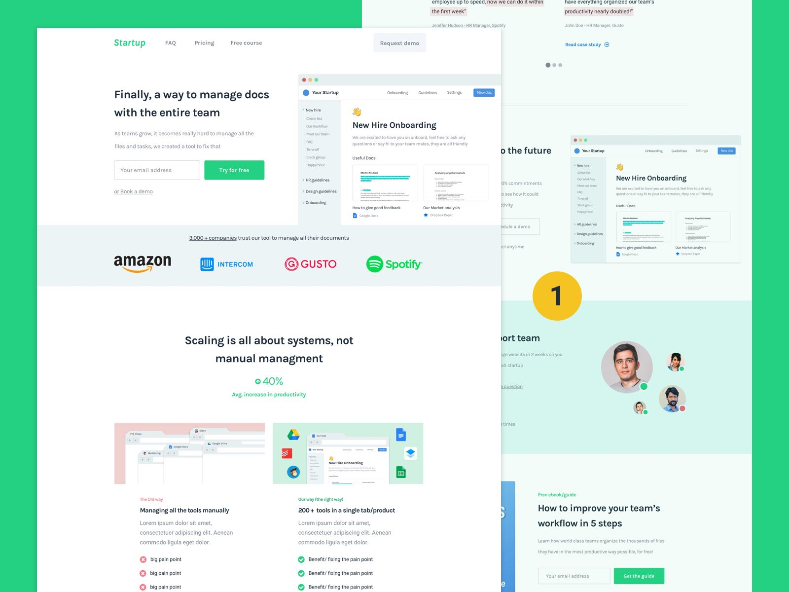 The Best SaaS Landing page examples I've seen (+ their secrets for