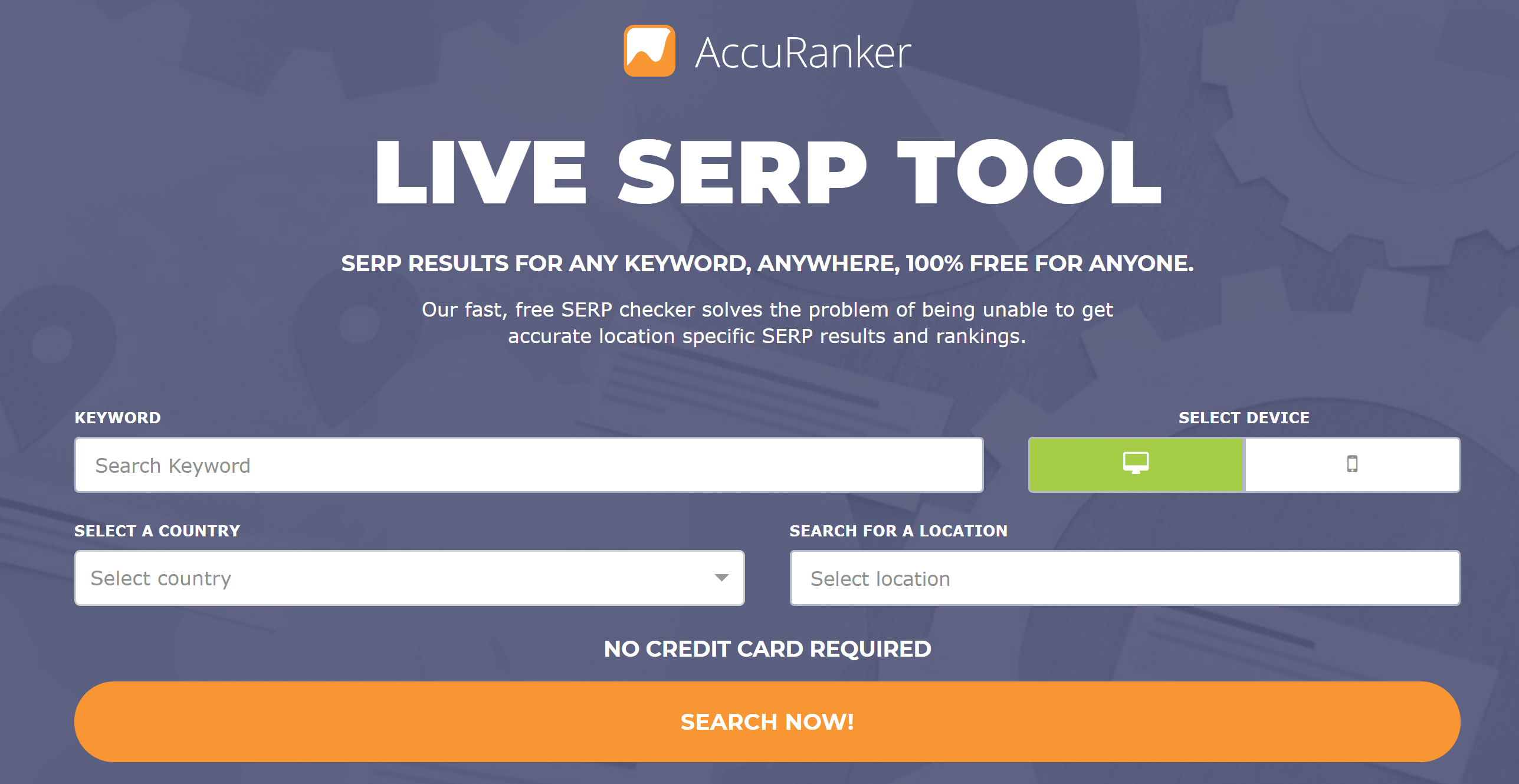 Accuranker Live SERPS tool
