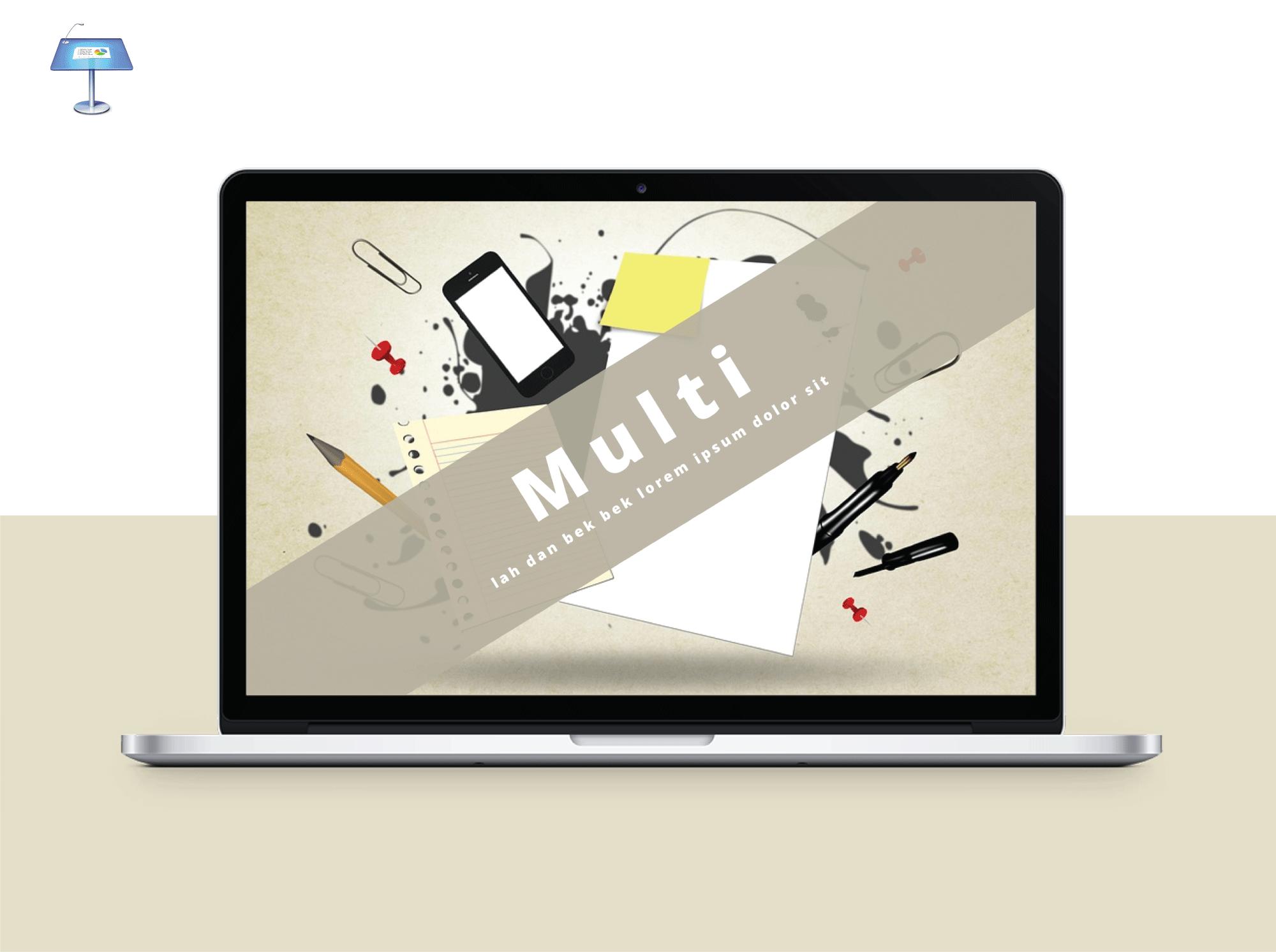 Free Keynote Multi Presentation Template Blog