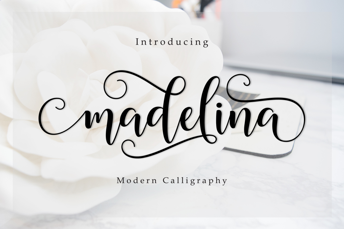 Madelina Modern Calligraphy Font