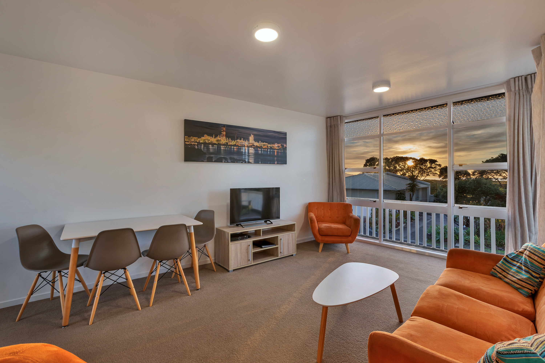 Ruakaka Beach Front Motel's two bedroom upstairs unit at dawn