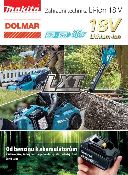 Katalog akumulátorové stroje Zahradní technika Li-ion 18V