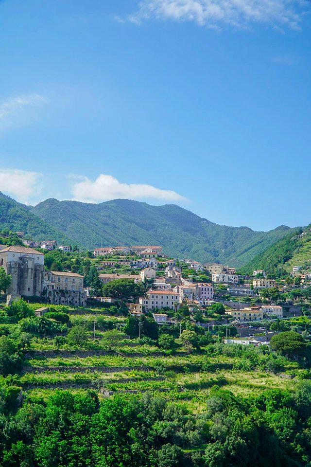 The hills above the Amalfi coast