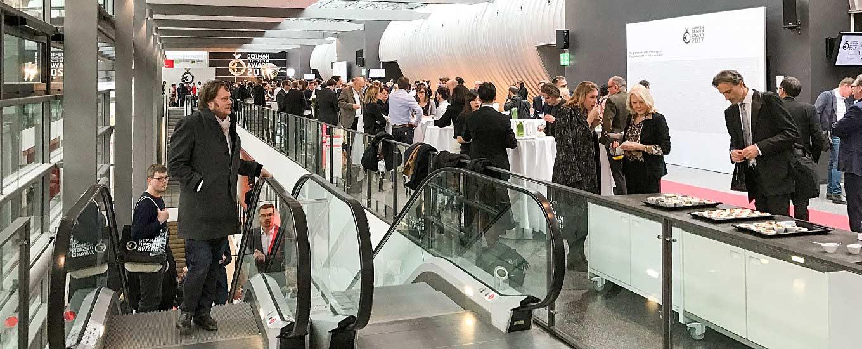 Die Empfangshalle bei der Preisverleihung des German Design Awards 2017